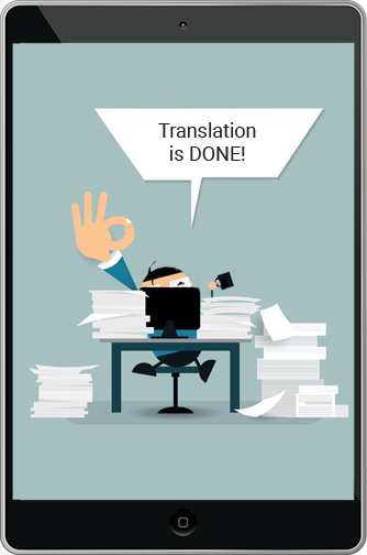 Your translation is done!